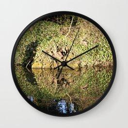 Reflection and circle Wall Clock
