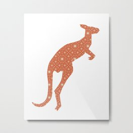 KANGAROO SILHOUETTE WITH PATTERN Metal Print