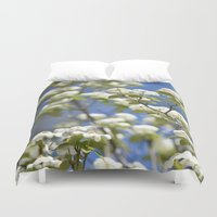 flight Duvet Covers featuring Flight by Lisa Argyropoulos