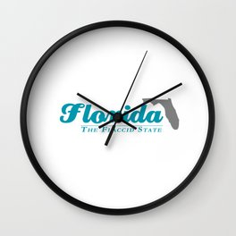 Florida - The Flaccid State Wall Clock
