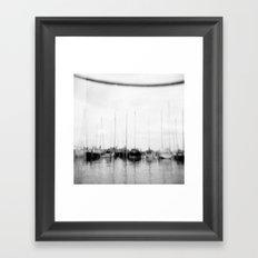 · Go sailing -Analogical Photography Black & White Framed Art Print