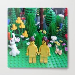 Lego Adam anda Eve Metal Print