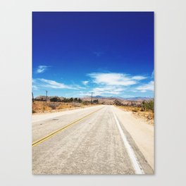 Long Desert Road Canvas Print
