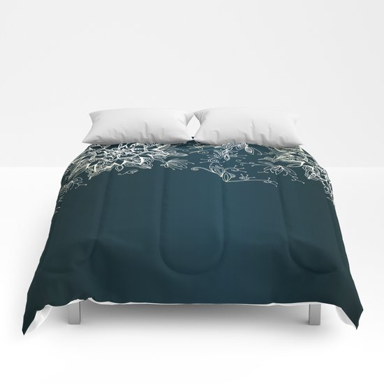 Zendala snowflake denim Comforters