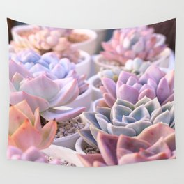 PASTEL SUCCULENTS Wall Tapestry