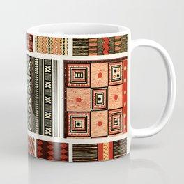 Pacific Island Patterns, Vintage Book Illustration Coffee Mug
