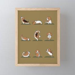 Beagle Yoga Framed Mini Art Print
