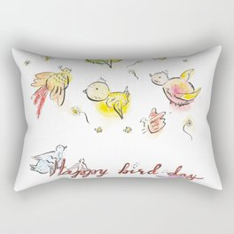 Happy bird-day Rectangular Pillow