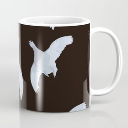 White Willow grouse Birds On A Black Background #decor #buyart #society6 Coffee Mug
