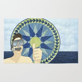 Snorkeling with Mariner's Compass Rug