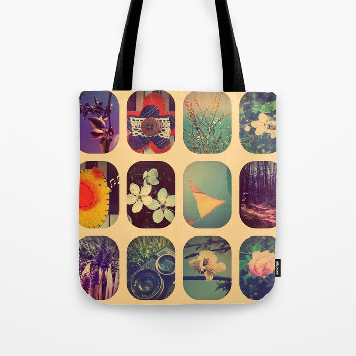 Spring collage Tote Bag