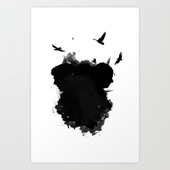 Sherlock and his Shadows Art Print
