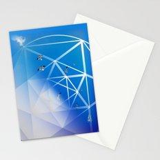 Gulls in Hexagram Flight Stationery Cards