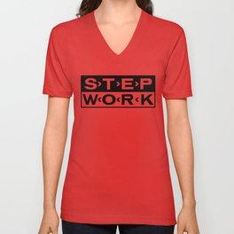 STEP WORK Unisex V-Neck