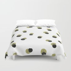 blots abstract minimal pattern Duvet Cover