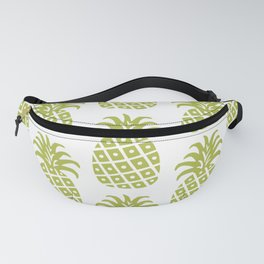 Retro Mid Century Modern Pineapple Pattern Olive Green Fanny Pack