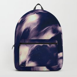 abstract psychedelic paint flow ghost face hb Backpack