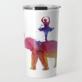 Elephant and ballerina Travel Mug