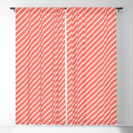 Living Coral Tight Stripes Blackout Curtain