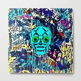 Graffiti Skull Metal Print