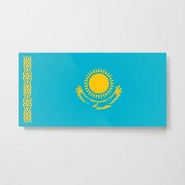 Kazakhstan Flag Metal Print