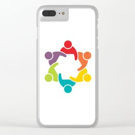 People Group in Meeting. Teamwork Concept Clear iPhone Case