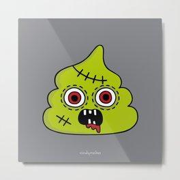 Zombie Poo Metal Print