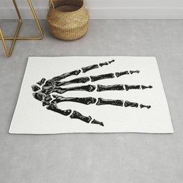Hand Anatomy (Black) Rug
