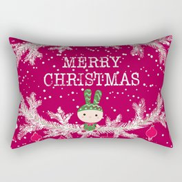 Merry christmas and happy new year 12 Rectangular Pillow