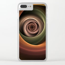 Fractal Depth And Warmth Clear iPhone Case