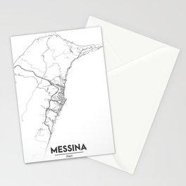 Minimal City Maps - Map Of Messina, Italy. Stationery Cards