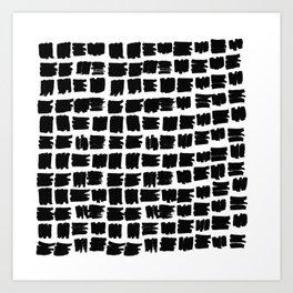 Black brush Art Print
