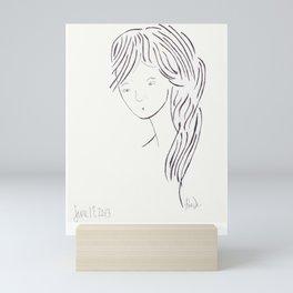 Big Hair Don't Care Mini Art Print