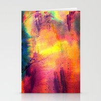 tie dye Stationery Cards featuring Tie Dye by Sarah Maybin