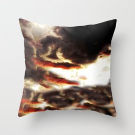 Mirrored Storm Throw Pillow