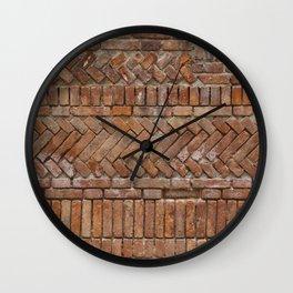 Beautiful Brick Wall Wall Clock