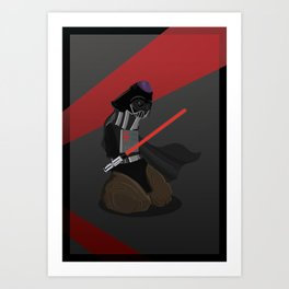 Darth Vader as a Penis Art Print