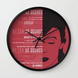 Heroes - Bowie Wall Clock
