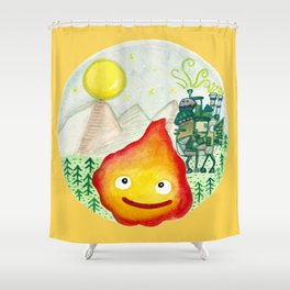 Howl's Moving Castle - Calcifer Shower Curtain