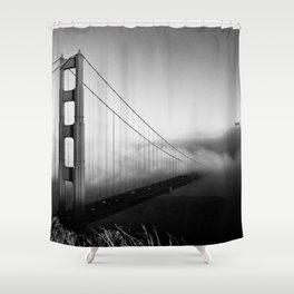SF Mood ~ Golden Gate Bridge. An enduring American landmark shot from the Marin Headlands. Shower Curtain