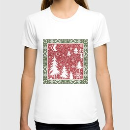 Winter. Christmas. T-shirt