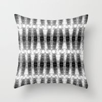 totem Throw Pillows featuring TOTEM by spixpah