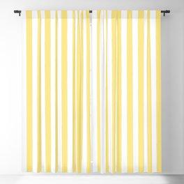 Modern geometrical baby yellow white stripes pattern Blackout Curtain