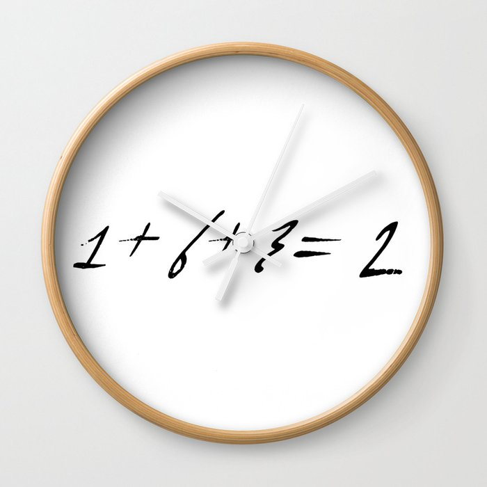 1+6+3=2 funny baseball quotes numbers math scores Wall Clock by dodobob