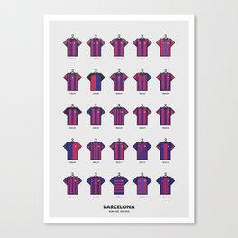 25 Years of Kits Barcelona Canvas Print