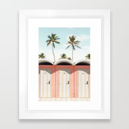 Beach Doors Framed Art Print