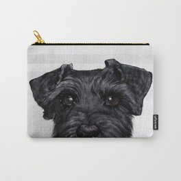 Black Schnauzer original painting print Carry-All Pouch