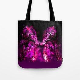 wolves hate monday splatter watercolor pink Tote Bag