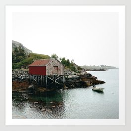 Palafittes in Norway Art Print