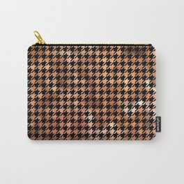 Houndstooth Brown and Black Carry-All Pouch